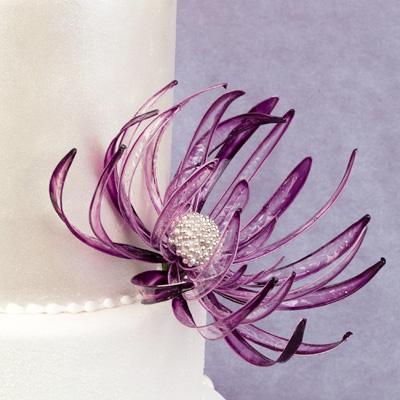curso tarta de boda con flor de gelatina rosa maria escribano